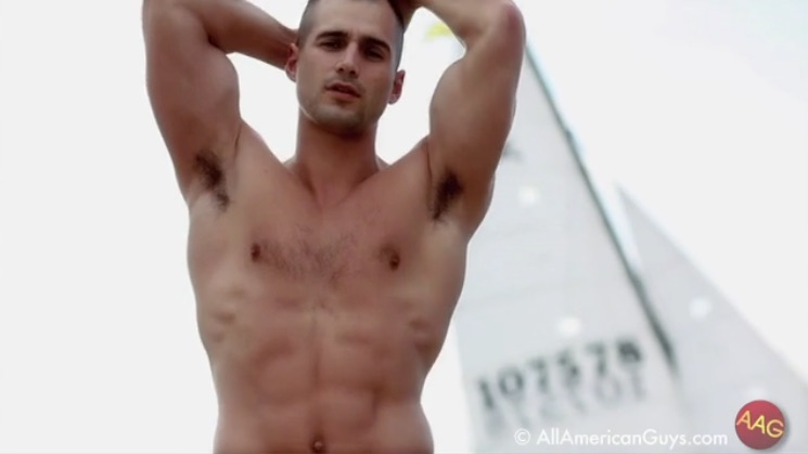 Todd Sanfield Sporting His Own Underwear Label, Part 2
