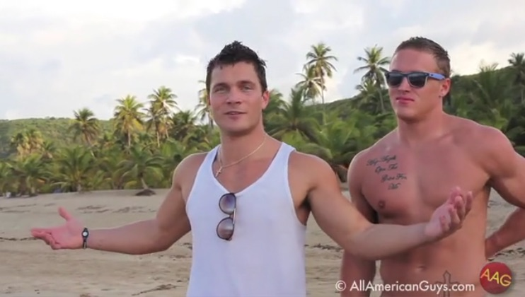 Tyler H. and Mike Funny on The Beach