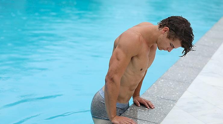 Luke M. Takes a Swim